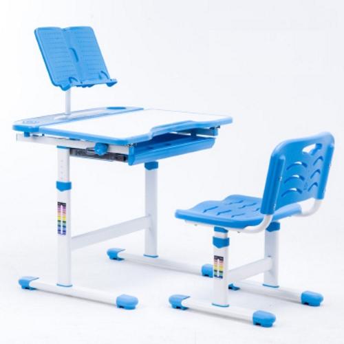 Bộ bàn ghế trẻ em thông minh chống gù màu xanh - không đèn