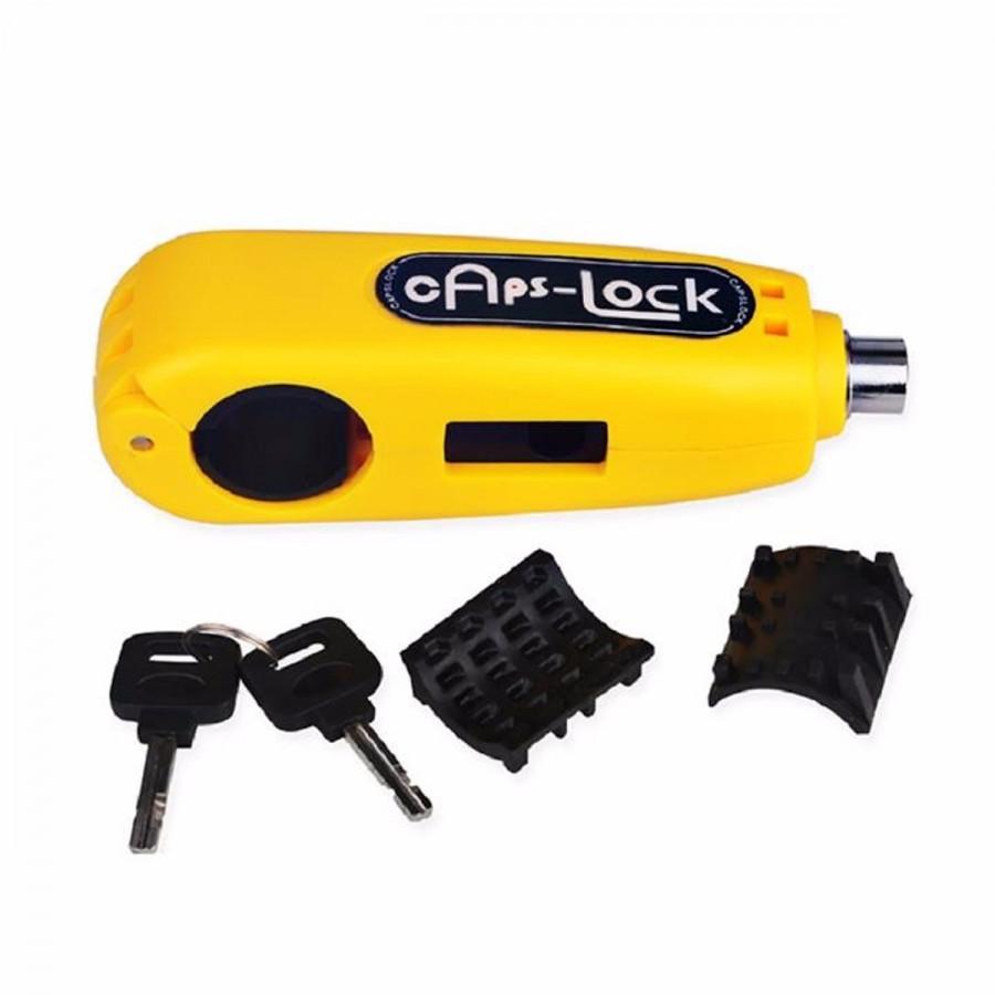 Khóa chống trộm xe máy Caps lock/Grip lock khóa phanh ( màu ngẫu nhiên )
