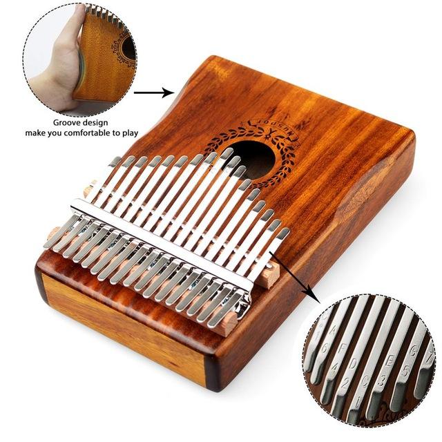 Đàn kalimba 17 phím gỗ nguyên khối Mahagony MUSPOR000016