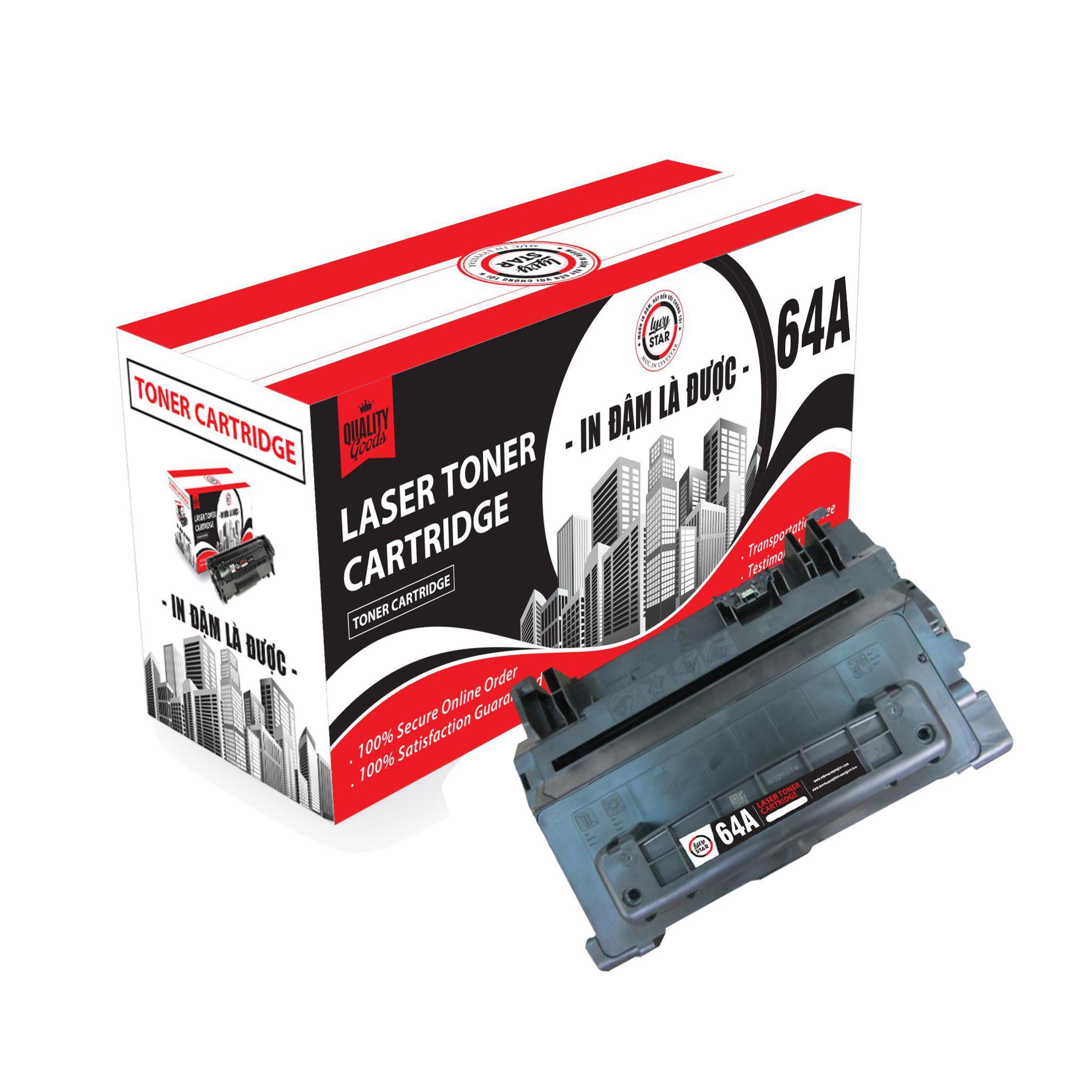 Mực in Lyvystar Laser 64A (CC364A) dùng cho máy HP - Hàng Chính Hãng
