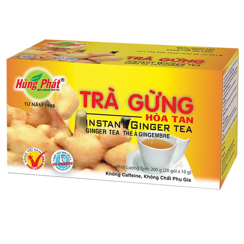 Trà Gừng Hòa Tan Hùng Phát hộp 20 gói x 10 g | Tiki