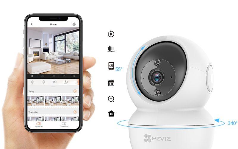 Camera IP EZVIZ C6N 2MP 1080p Smart Night Vision - Tặng Thẻ Nhớ NETAC 32GB - Hàng Chính Hãng