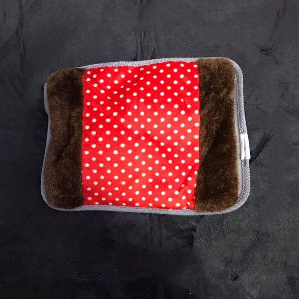 Túi Sưởi Ấm Tay Họa Tiết Chấm Bi Đa Năng (1 Sản Phẩm)- Dùng Điện  - Màu Đỏ - Mẫu TST0217