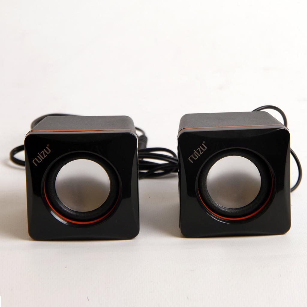 Bộ Loa Vi Tính 2 Loa Bass Cho Điện Thoại Laptop Ruizu 2.0 Ruizu RZ-180 - Hàng chính hãng