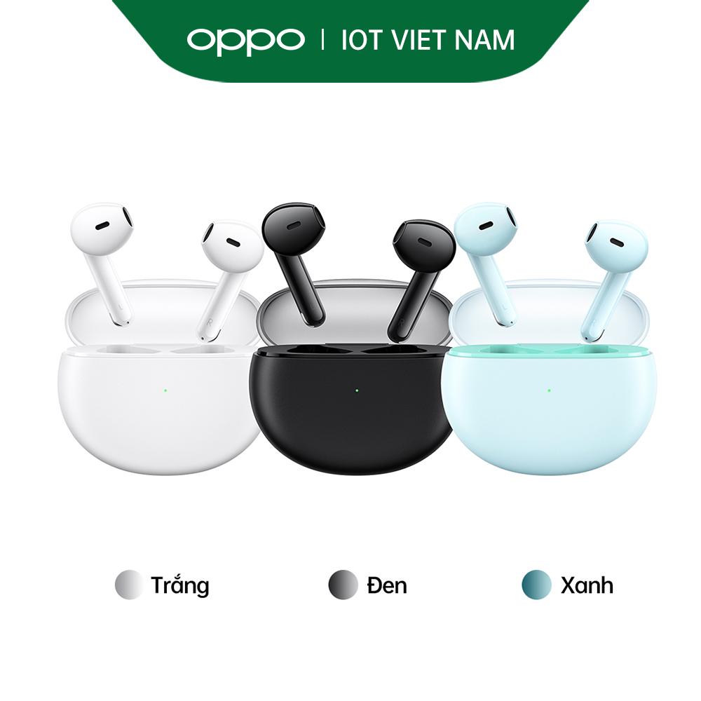 Tai Nghe Không Dây True Wireless OPPO Enco Air | Thiết Kế Bán Trong Suốt | Âm Thanh Chất Lượng Cao 12mm | Chống Ồn Chủ Động AI Khi Đàm Thoại | Hàng Chính Hãng