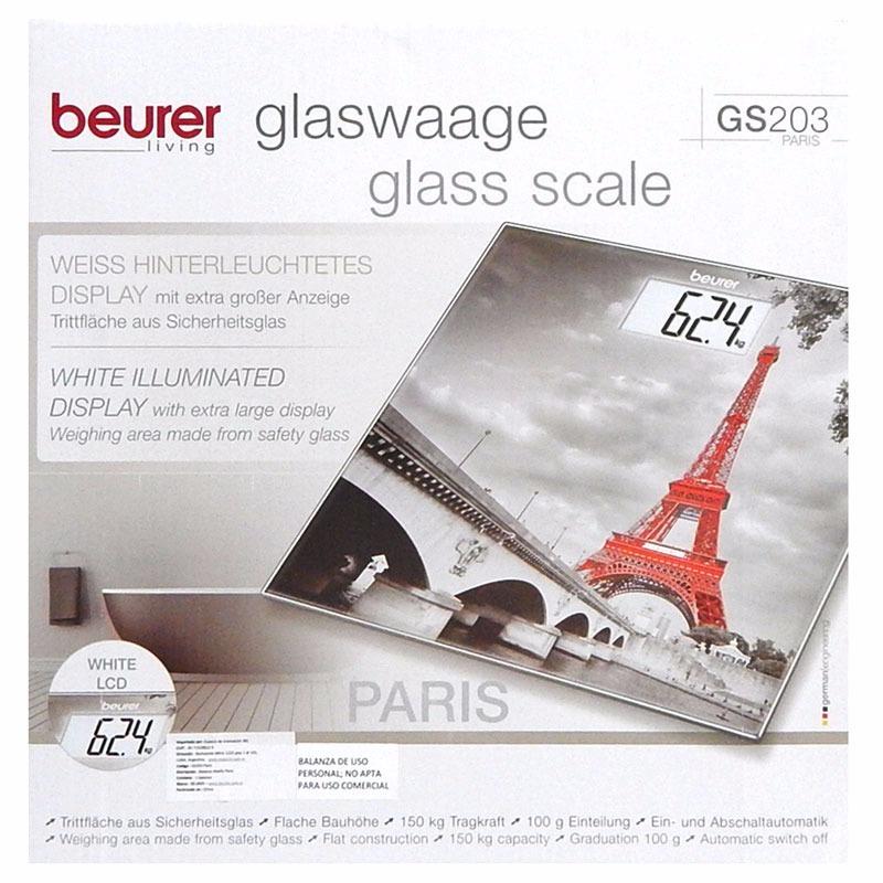 Cân điện tử mặt kính (Paris) Beurer GS203 Paris