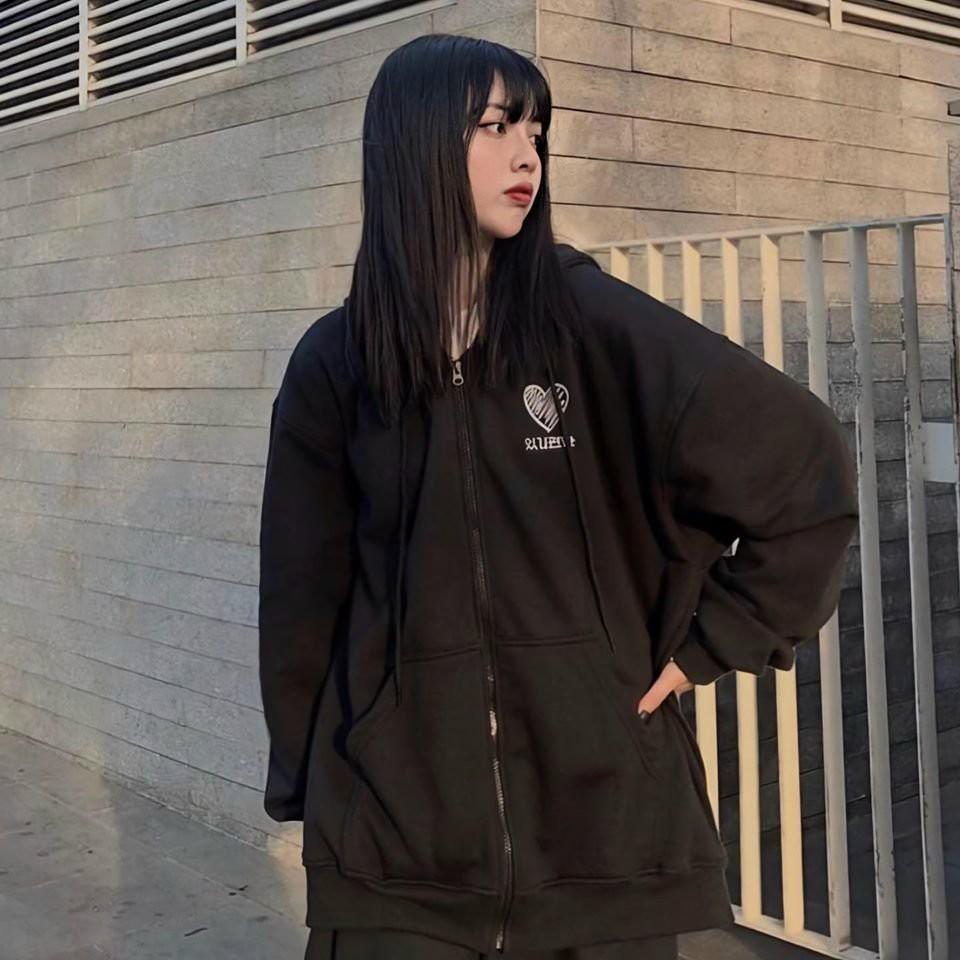 Áo Khoác Nữ Chống Nắng Unisex Chất Liệu Nỉ Form Rộng Kiểu Hàn Quốc Màu Trắng N11-02