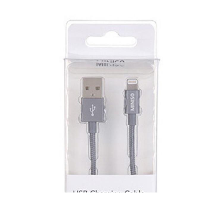Cáp sạc USB với đầu nối Lightning Miniso 21g - Hàng chính hãng