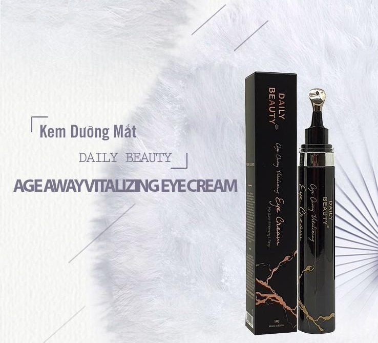 Combo 3 hộp Kem dưỡng mắt Daily Beauty Age Away Vitalizing Eye Cream sản phẩm nhập khẩu chính ngạch Hàn Quốc