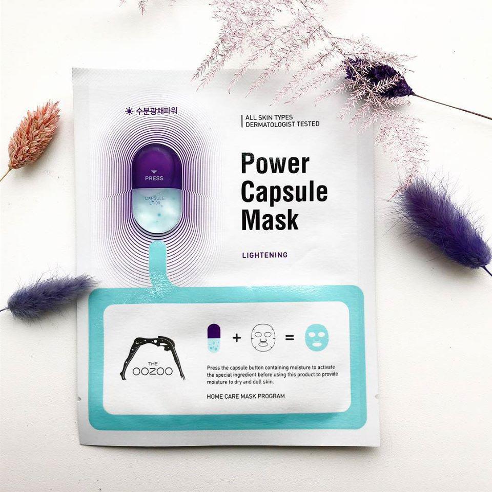 Mặt Nạ Cấp Nước Chuyên Sâu THE OOZOO Power Capsule Mask - Lightening