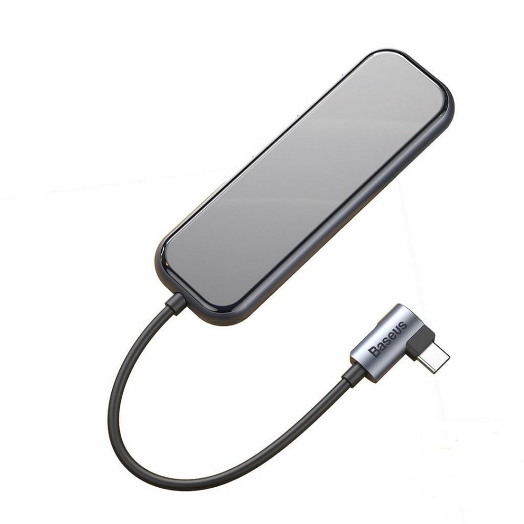 Bộ Hub chuyển đổi Type C Baseus 5 in 1 CAHUB - EZ0G ( USB 3.0 x 4 + Type-c PD ) - Hàng chính hãng