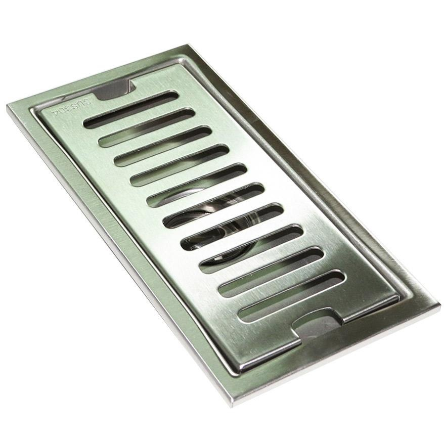 Hố ga thoát sàn Inox SUS 304 10X30cm Eurolife EL-HG1030 (Trắng bạc)