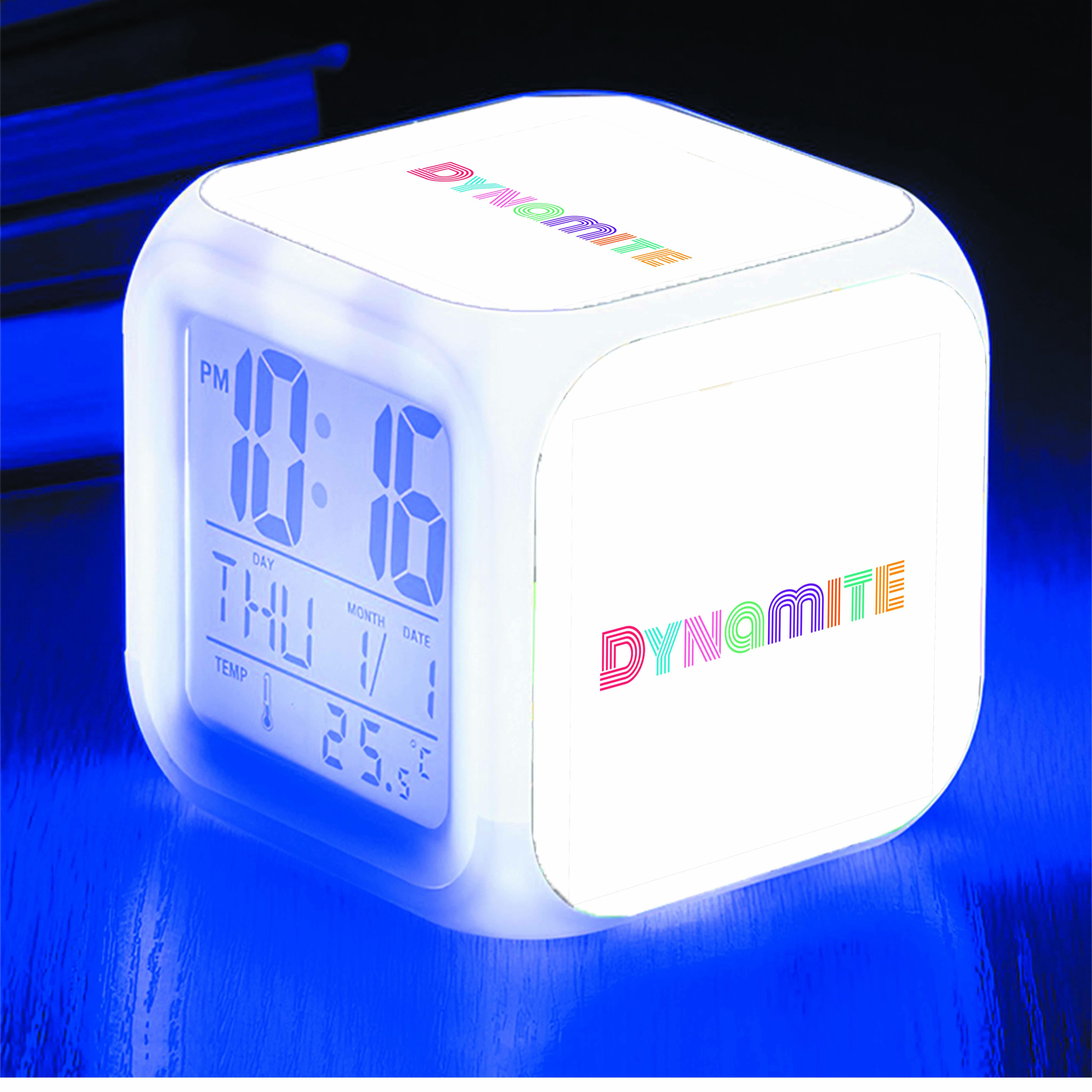 Đồng hồ báo thức để bàn IN HÌNH BTS Dynamite