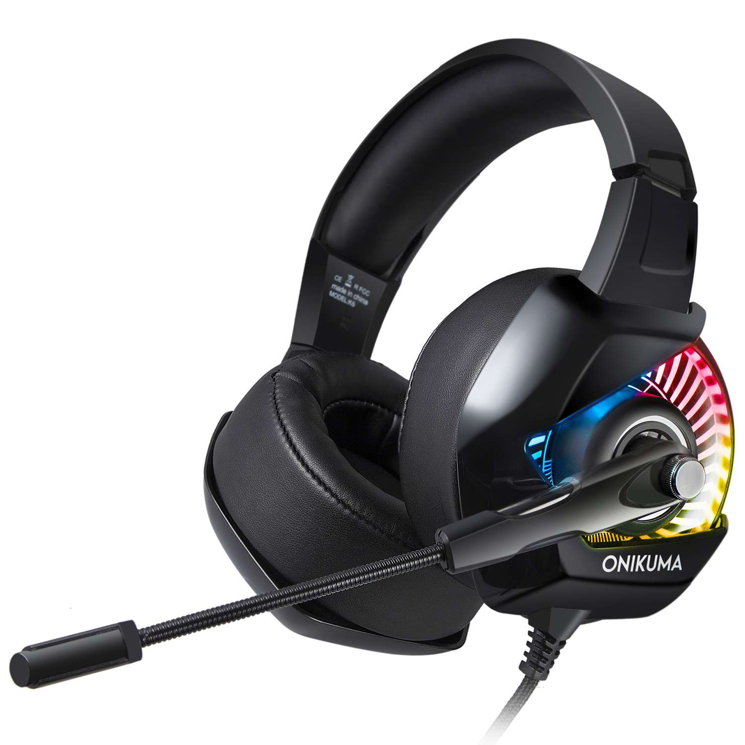 Tai Nghe Game (Headphone Gaming) ONIKUMA K6 + Tặng Led USB (Màu ngẫu nhiên) - Hàng nhập khẩu