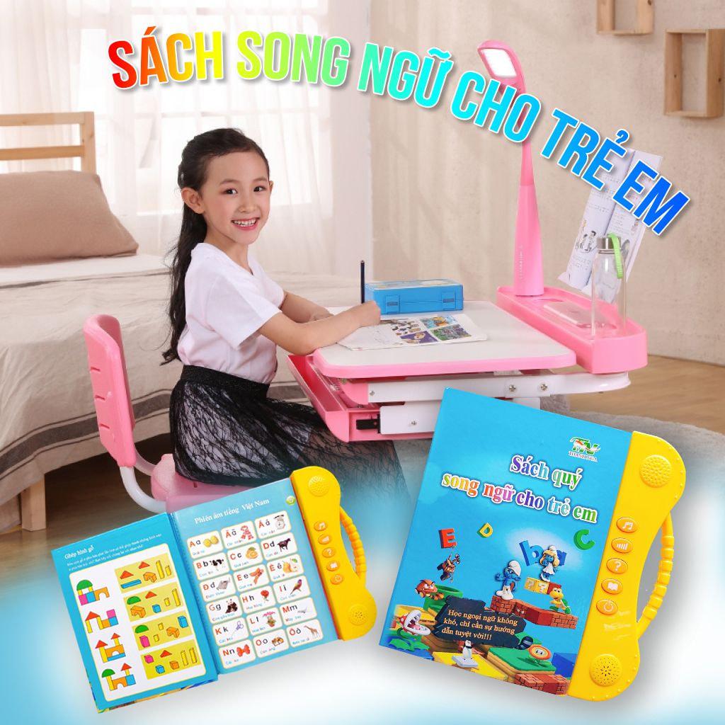 Sách học tiếng Anh song ngữ kèm hình ảnh và âm thanh cho trẻ từ 3 tuổi