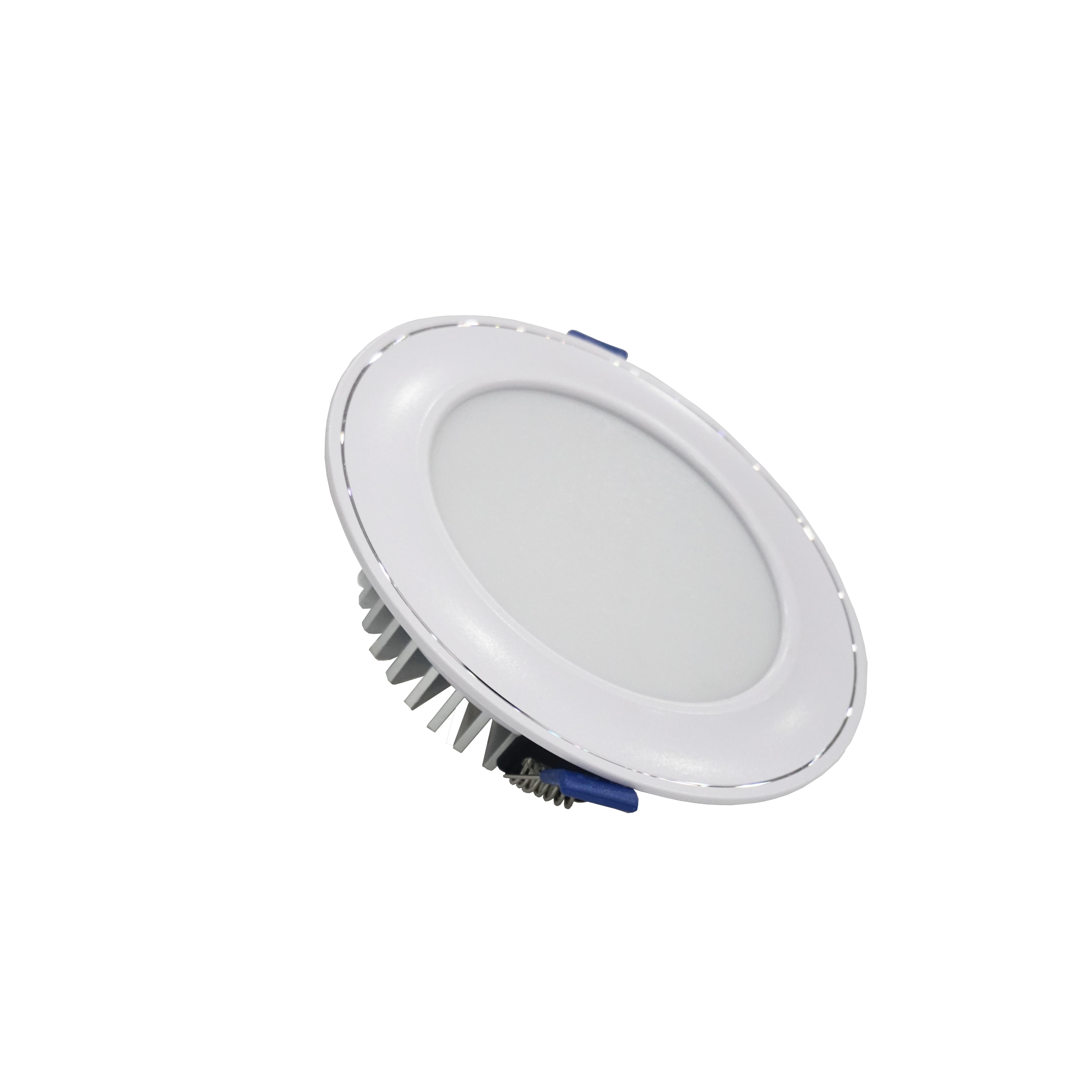 Đèn led âm trần mặt cong 12W mặt trắng (đơn sắc) - TLC Lighting