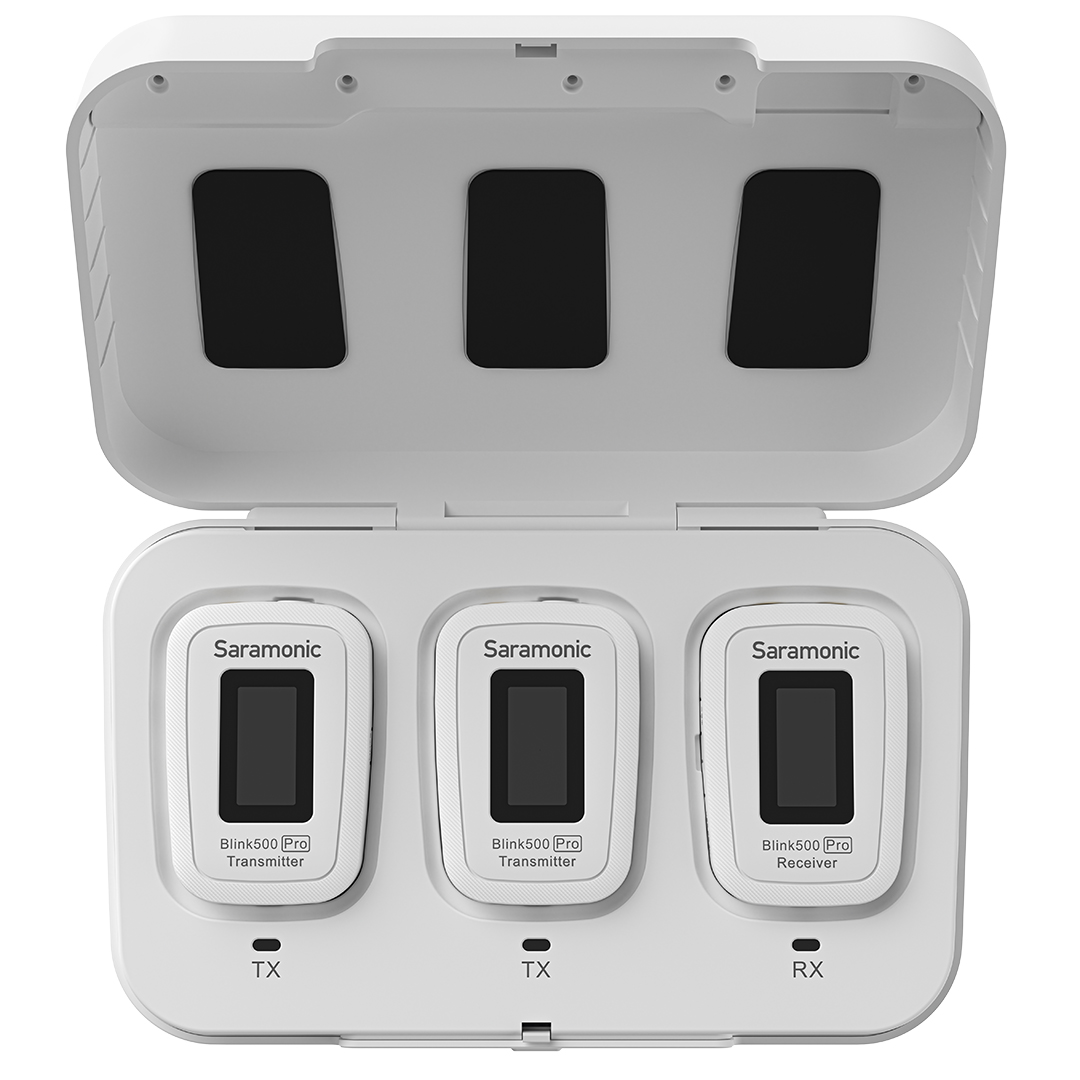 Micro thu âm không dây Saramonic Blink 500 Pro B2W cổng micro 3.5mm ( 2phát + 1thu) - Hàng Chính Hãng
