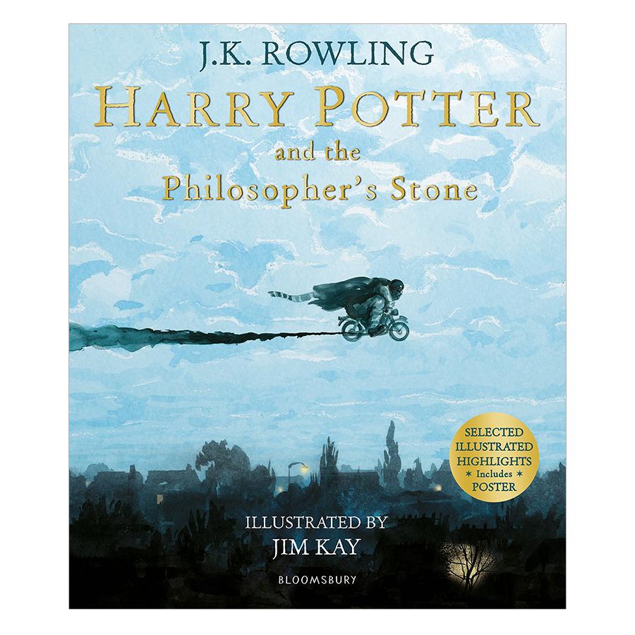Harry Potter Part 1: Harry Potter And The Philosopher's Stone (Paperback) Illustrated Edition (Harry Potter và Hòn đá phù thủy) (English Book)