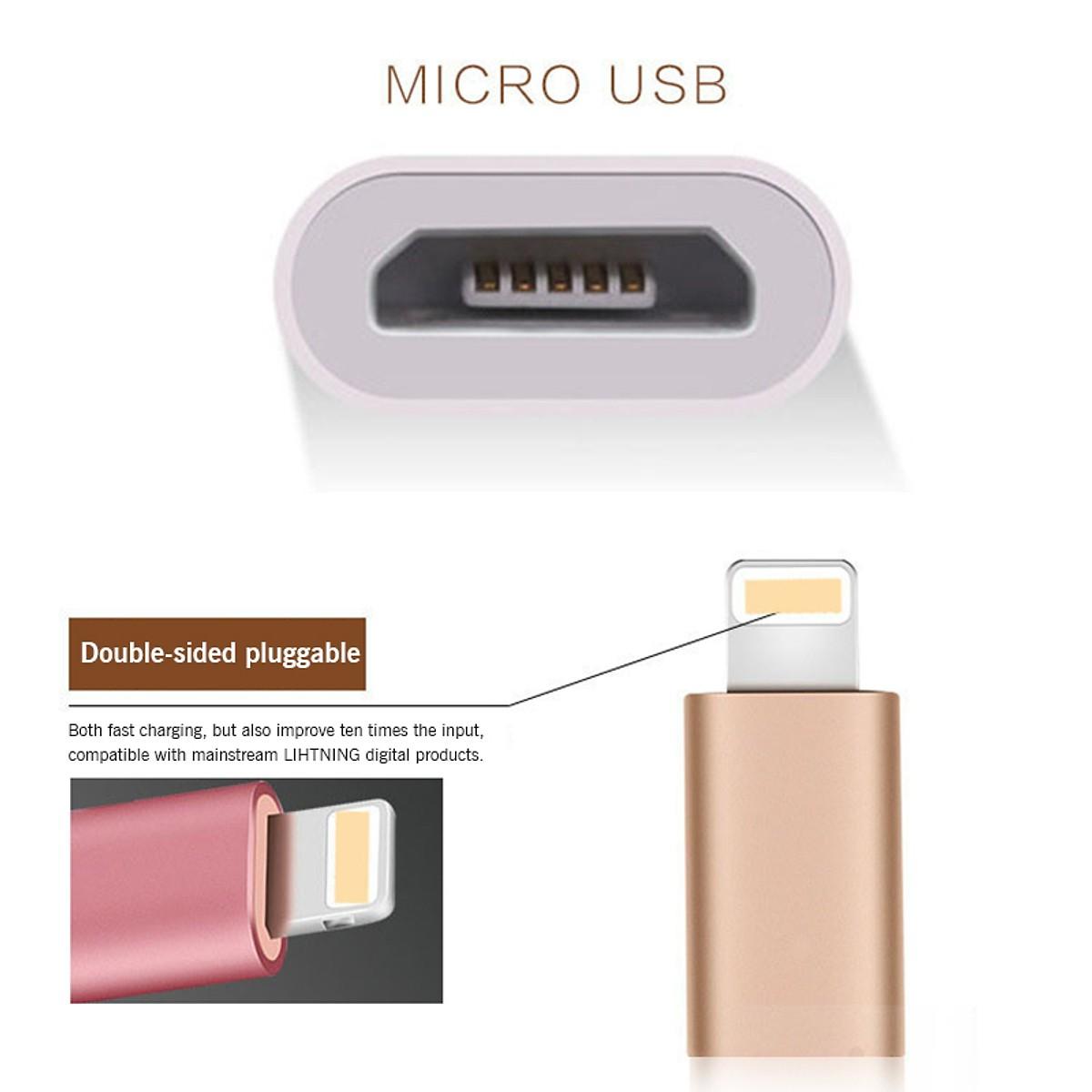 Đầu Chuyển Từ Micro Sang OTG Cho Iphone - Hàng nhập khẩu
