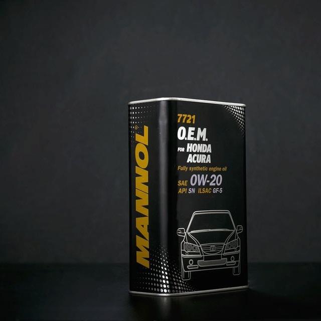 Nhớt MANNOL 7721 Chuyên Dùng Cho Xe Honda Acura SAE 0W-20 API SN ILSAC GF-5 – 4 Lít [Tổng Hợp Sinh Học Cao Cấp, Tiết Kiệm Năng Lượng (PAO + Esters)]