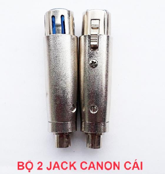 Bộ 2 jack chuyển canon ra bông sen - Dùng cho Vang cơ vang số, Mixer karaoke và nhiều thiết bị điện tử khác