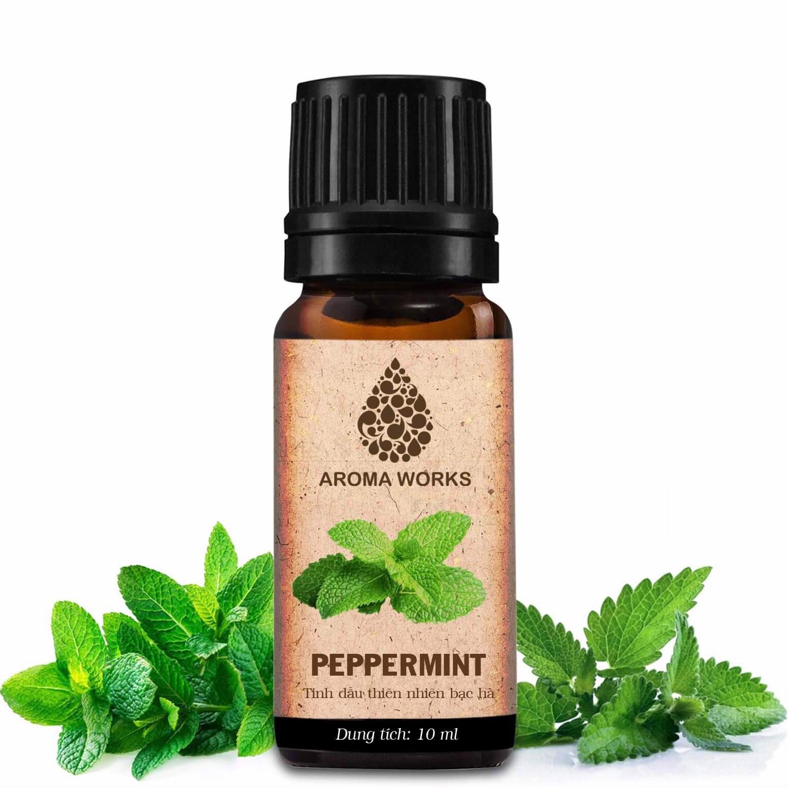Tinh Dầu Thiên Nhiên Hương Bạc Hà Aroma Works Essential Oils Peppermint 10ml