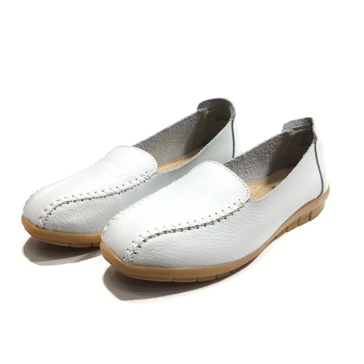 Giày Thái Lan moca nữ, giày lười nữ da bò mềm chuyên dụng đi bộ LK82-020 2020 Sr7