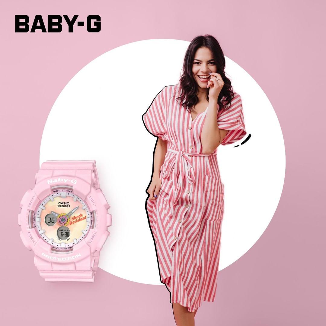 Đồng Hồ Nữ Casio Baby G BA-120TG-4ADR Dây Nhựa Màu Hồng - Summer Gradation Dial - Chống Va Đập
