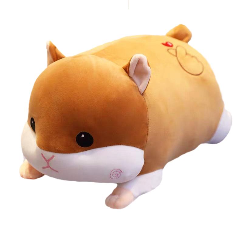 Thú bông chuột hamster má xoắn lông mịn nằm TC - NHÓC - Nâu