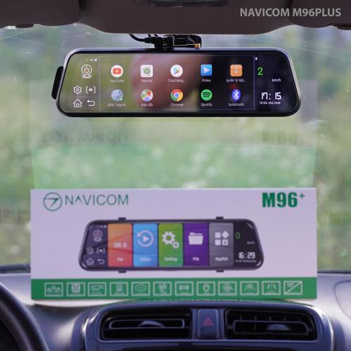Camera hành trình gương android Navicom M96 Plus chính hãng