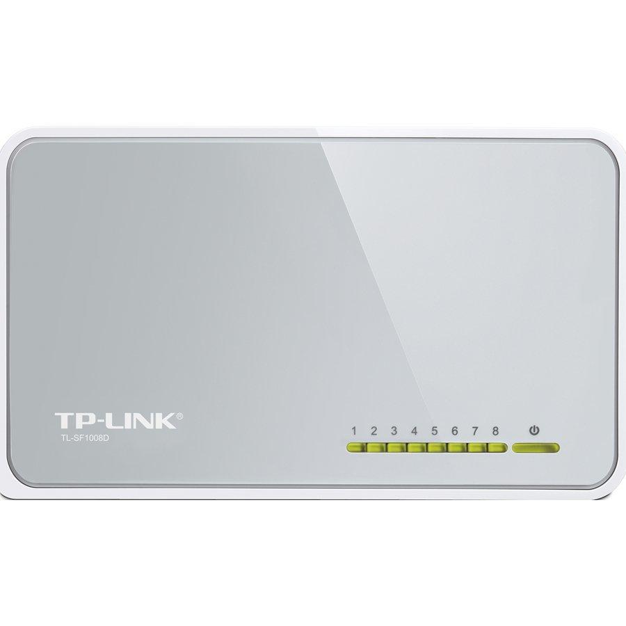 TP-Link  TL-SF1008D - Bộ Chia Tín Hiệu Để Bàn 8 Cổng 10/100Mbps - Hàng Chính Hãng