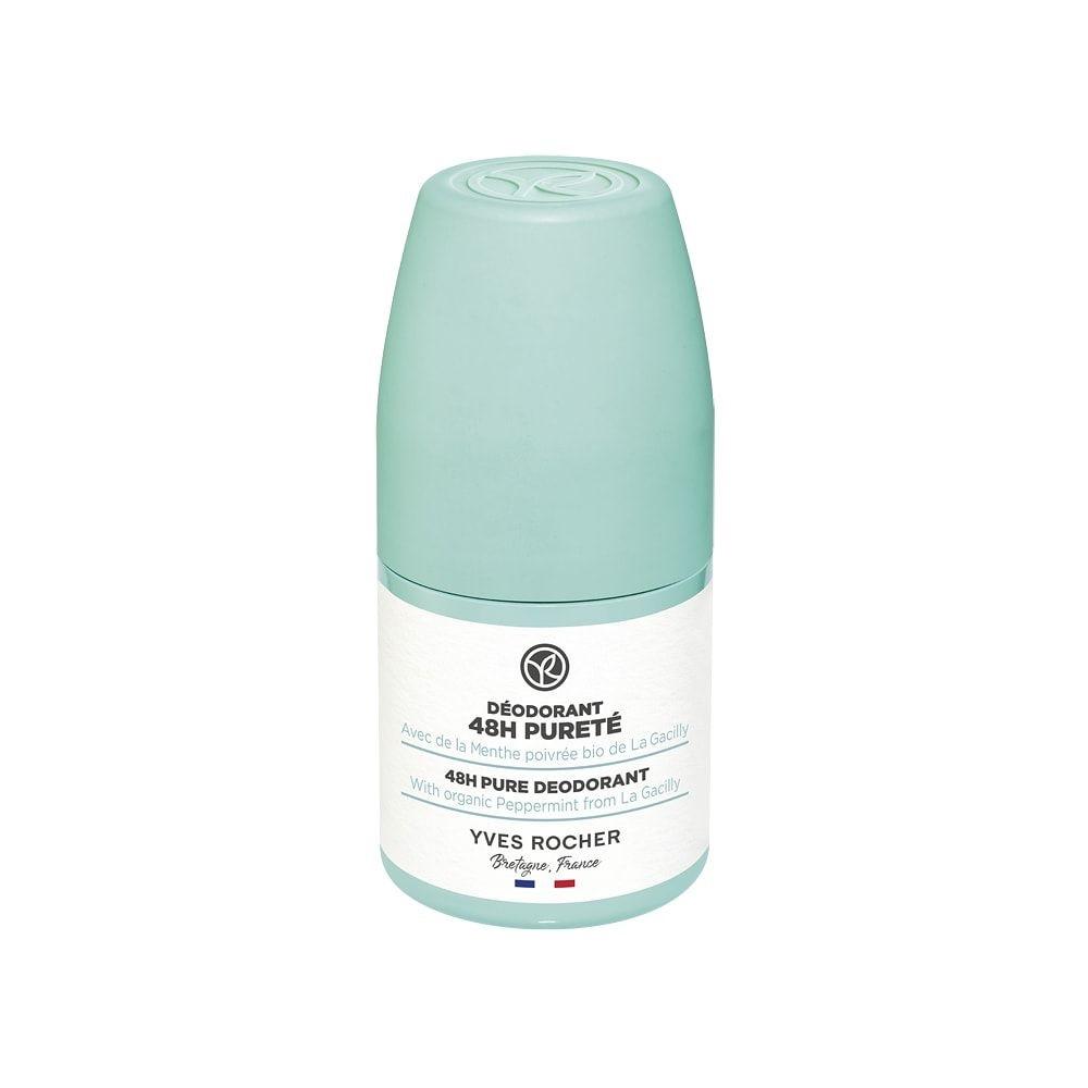 Lăn Khử Mùi Hương Bạc Hà Sảng Khoái  Yves Rocher 48H Pure Dedorant With Peppermint 50ml