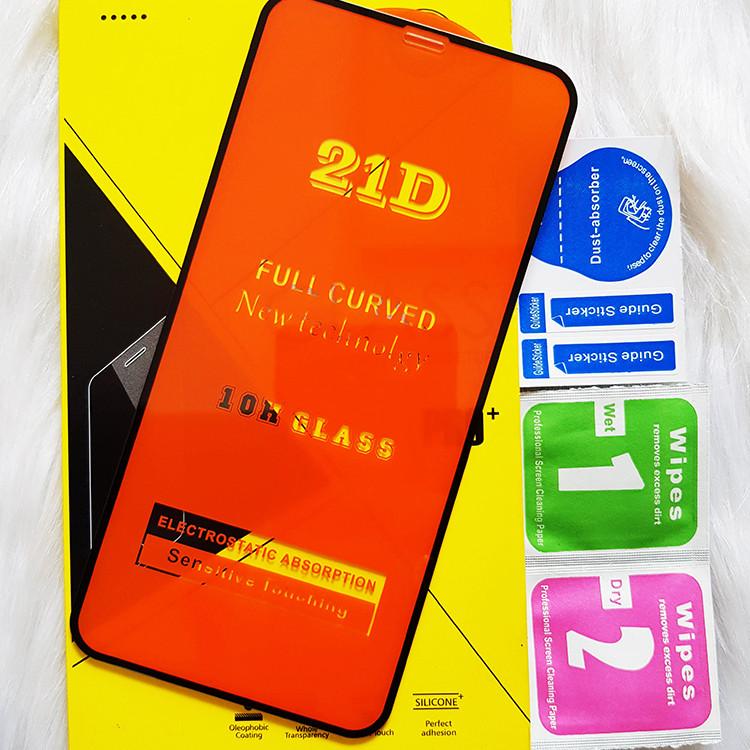 Kính Cường Lực 21D cho IPHONE XS MAX Full Keo Màn Hình 21D SIÊU BỀN, SIÊU CỨNG, ÔM SÁT MÁY  CAPARIES CHÍNH HÃNG