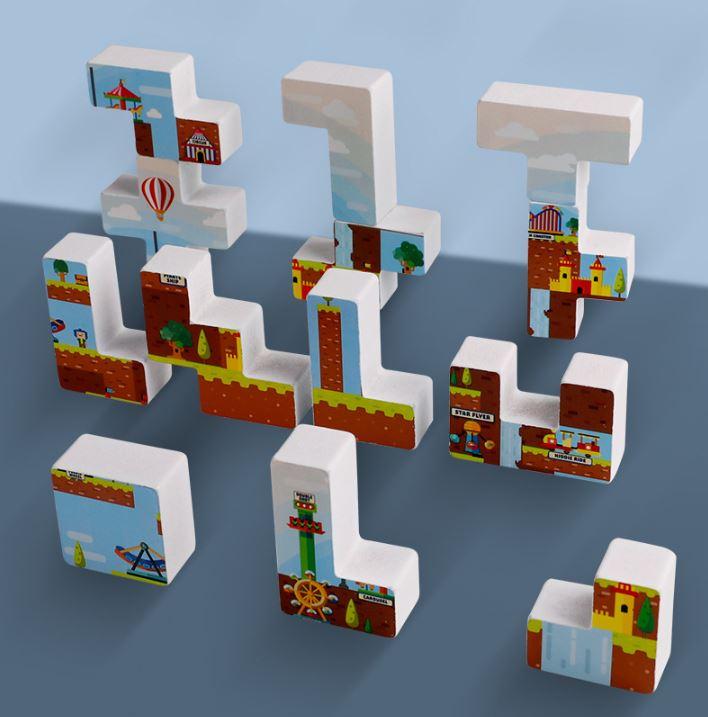 Đồ chơi gỗ, Đồ chơi giáo dục - Bảng xếp các Tetris vui nhộn