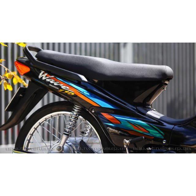 Tem dành cho xe Wave Crom xanh ngọc cam Rời xe đen cực bền (bộ)