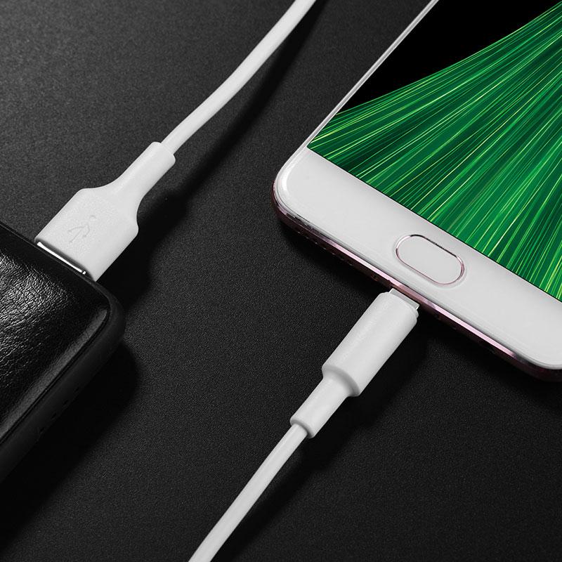Cáp sạc nhanh Micro USB Hoco, hỗ trợ sạc nhanh 2A, chất liệu TPE siêu bền, hạn chế rối, dài 100cm dành cho Samsung, Huawei, Xiaomi, Oppo, Sony, X25 - Hàng chính hãng