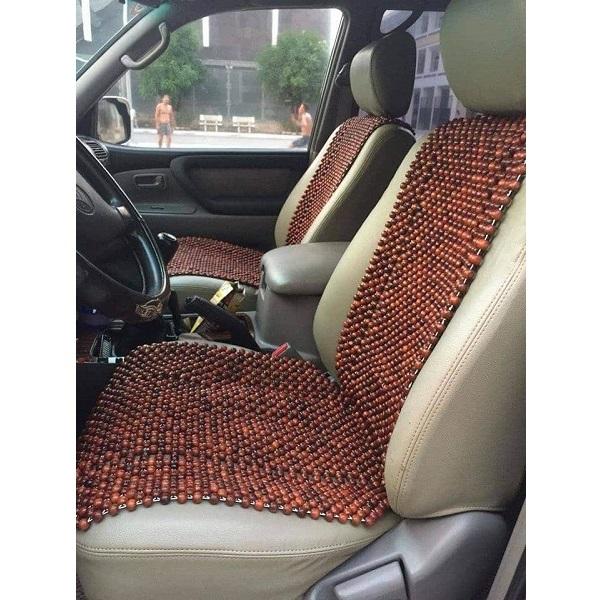 Đệm ghế hạt gỗ hương đỏ - Kích thước 105 x 45cm