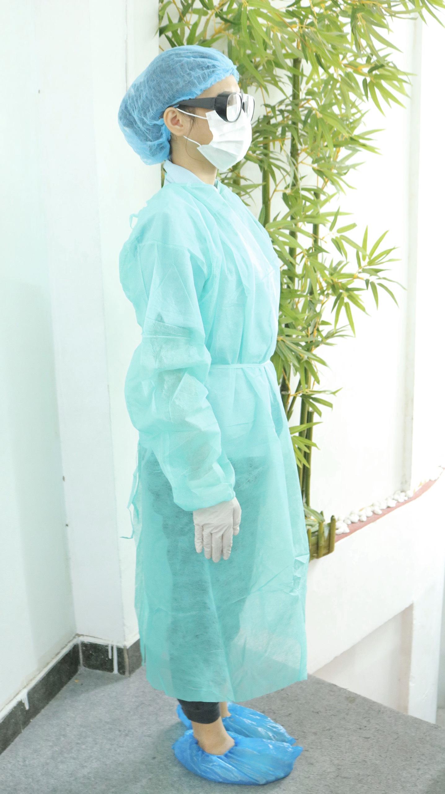 Bộ Trang Phục Phòng Dịch 6 Món Gồm: Áo + Nón + Kính Bảo Hộ + Khẩu Trang + Găng Tay + Bao Giày