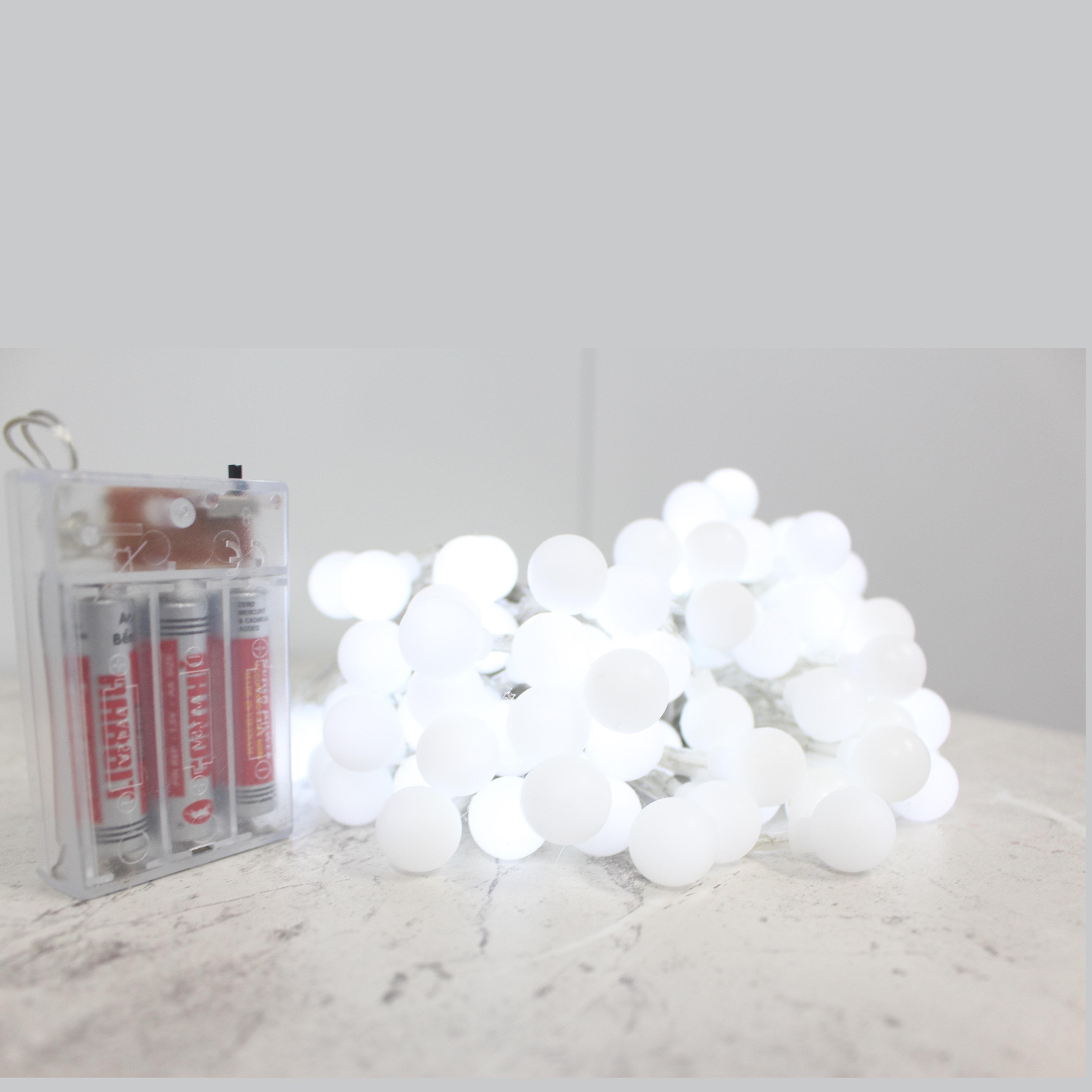 Đèn dây led màu sắc lạ mắt, hình bóng tròn chạy bằng pin AA dùng trang trí độc đáo, party, lễ tết mang cảm giác lãng mạn HT806 (Bộ 3)