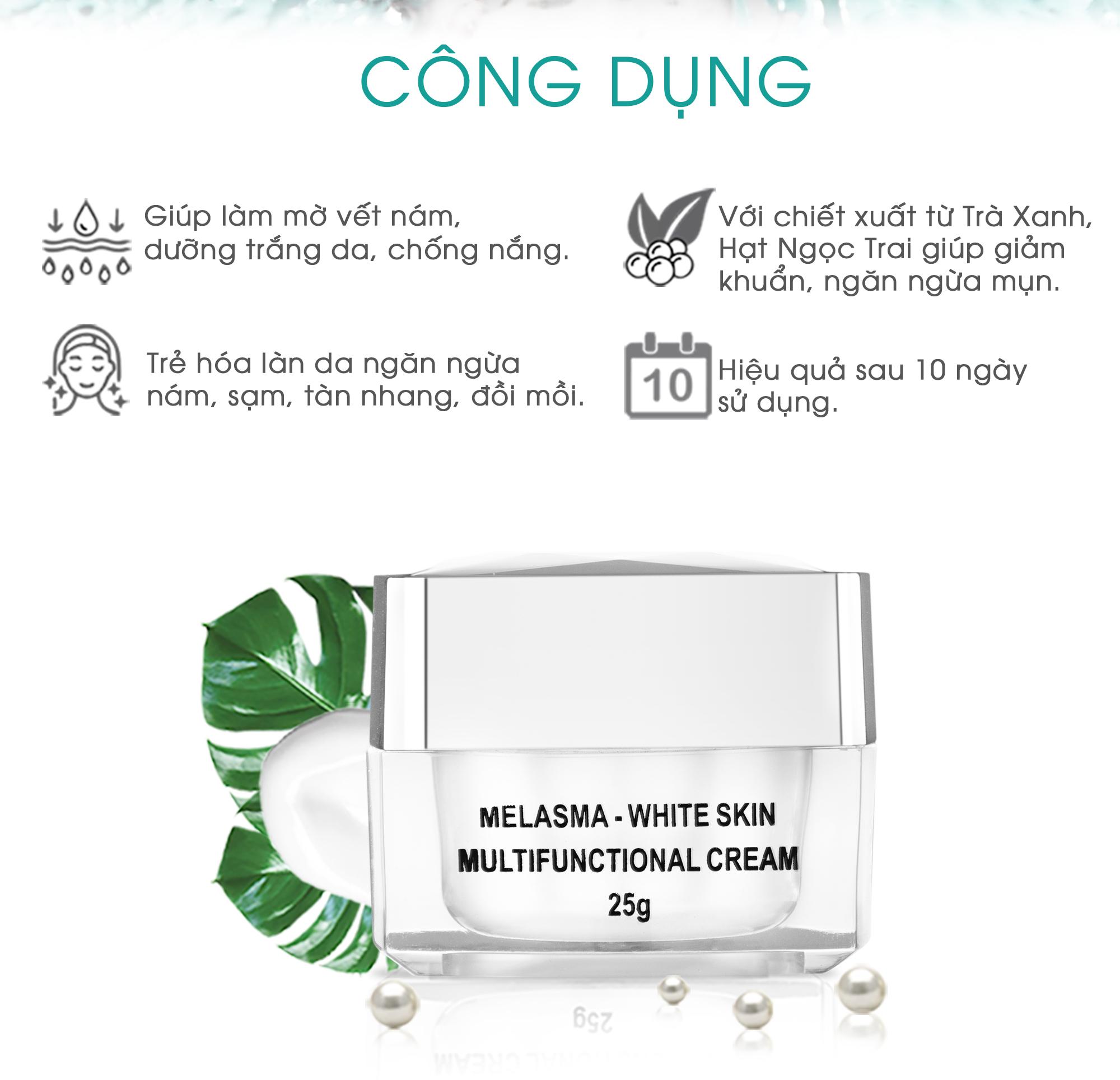 Bộ 3 sản phẩm Trắng Da Ngừa Nám KN Beauty chuyên sâu:Kem dưỡng 25g + Serum 30ml+ Sữa rửa mặt 120ml (Tặng 2 Mặt Nạ)