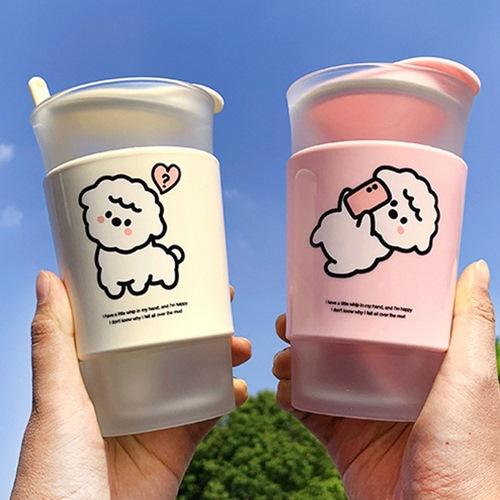 Bộ 4 cốc thủy tinh chịu nhiệt in hình cừu xinh xắn