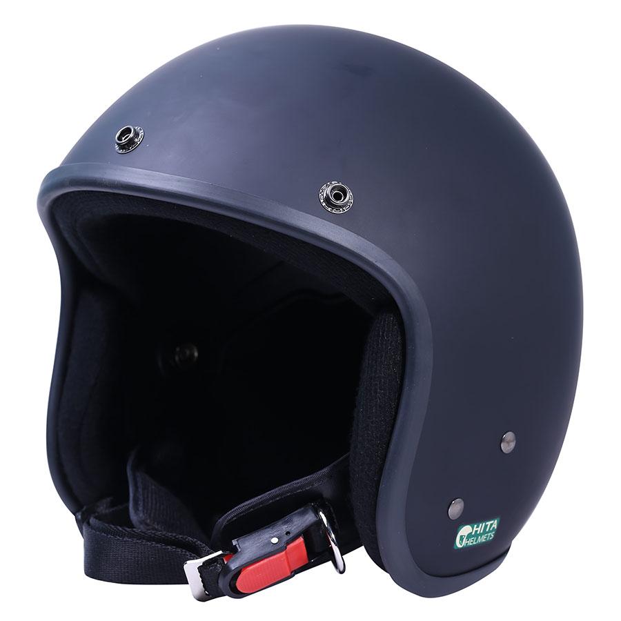 Mũ bảo hiểm 3/4 CHITA CT1 - Màu đen sơn mờ tem Sài Gòn 2 mùa nóng