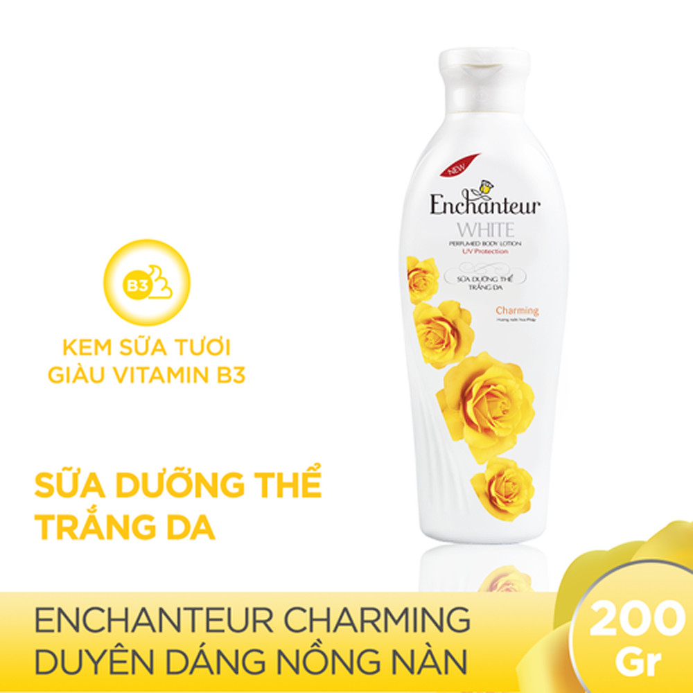 Combo Sữa Tắm Nước Hoa Enchanteur Charming 650ml Và Sữa Dưỡng Thể Trắng Da Enchanteur Charming 200ml