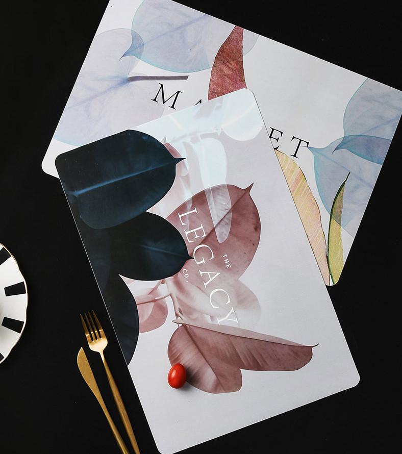 Miếng lót bàn ăn trải bàn ăn hoạ tiết lá tre 3-D-E6-T3034