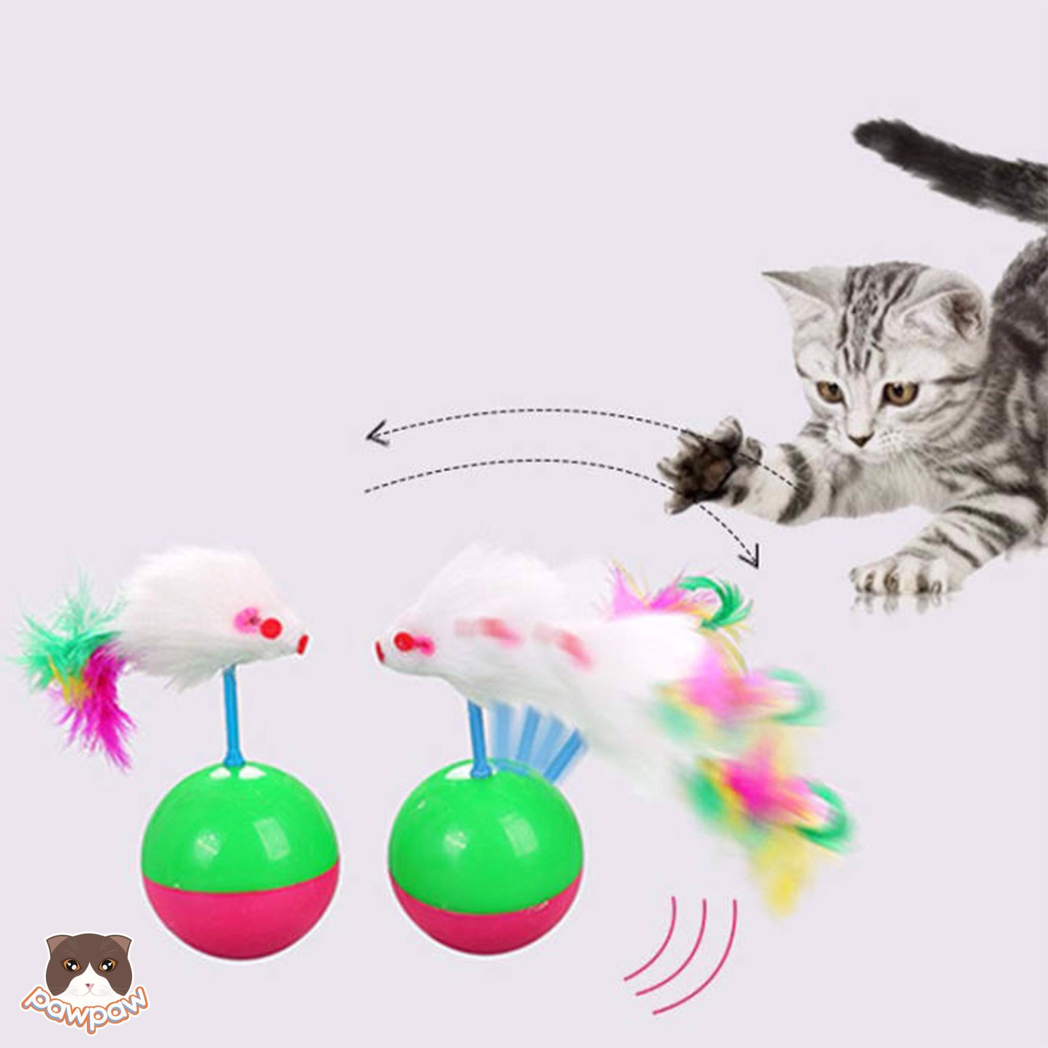 Đồ chơi bóng lật đật cho mèo