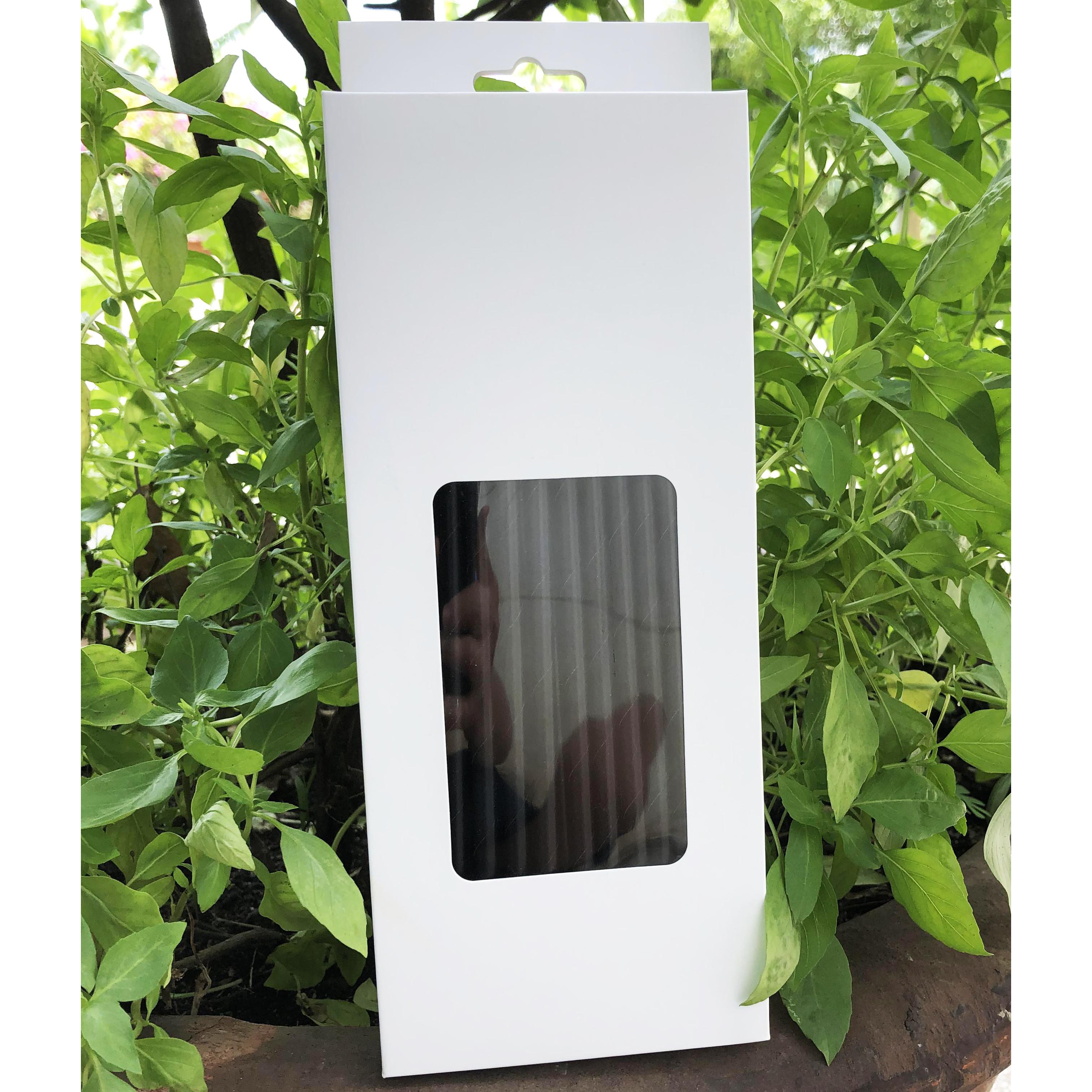 Hộp 100 ống hút giấy kích thước 197x6mm màu đen thân thiện môi trường dùng cho mọi loại nước