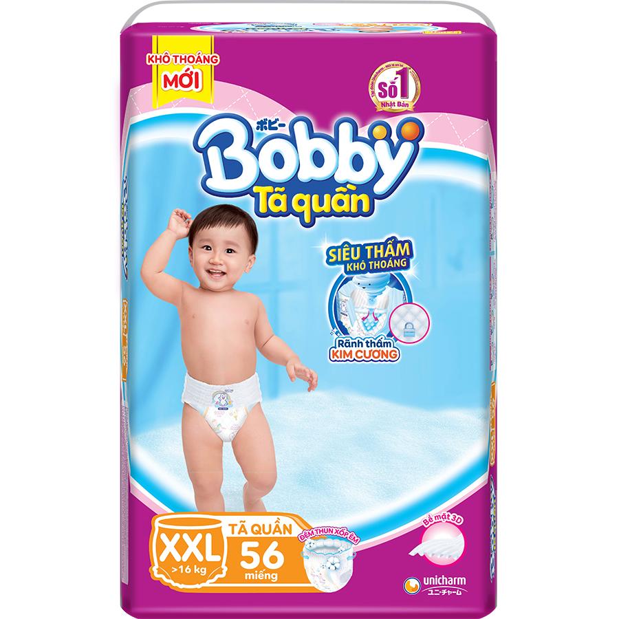 Tã Quần Bobby Ultra Jumbo XXL56 Siêu Siêu Lớn Size XXL - 56Miếng