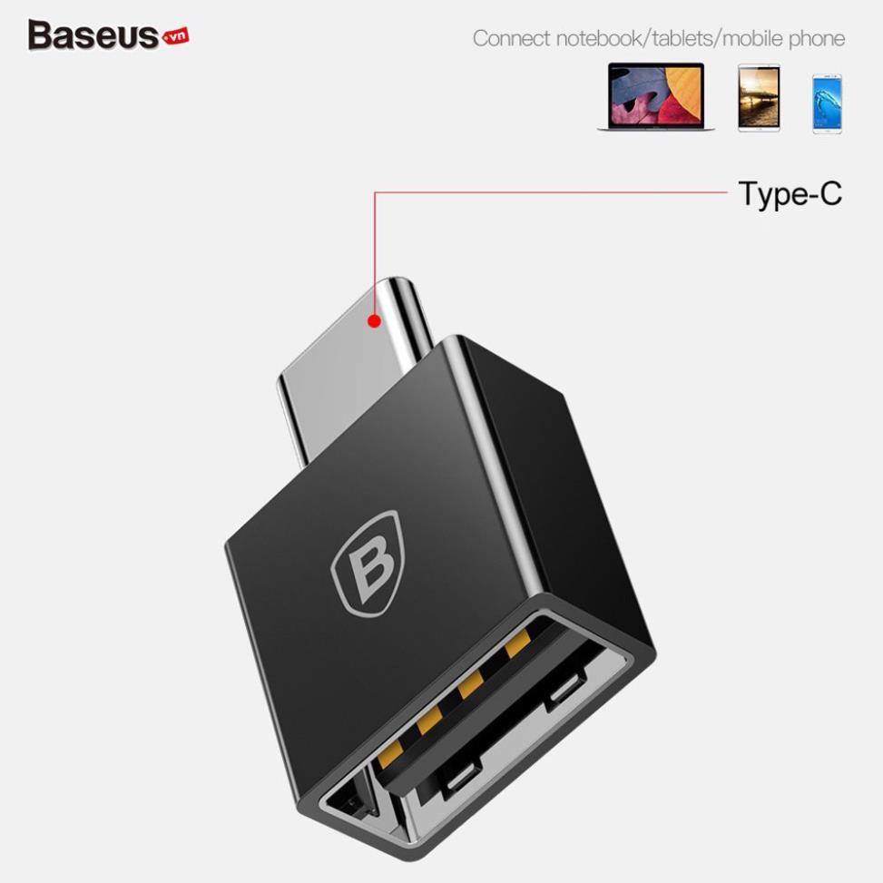 Đầu chuyển OTG USB Type C sang USB Full size Baseus LV106 (CATJQ-B01)- Hàng chính hãng.