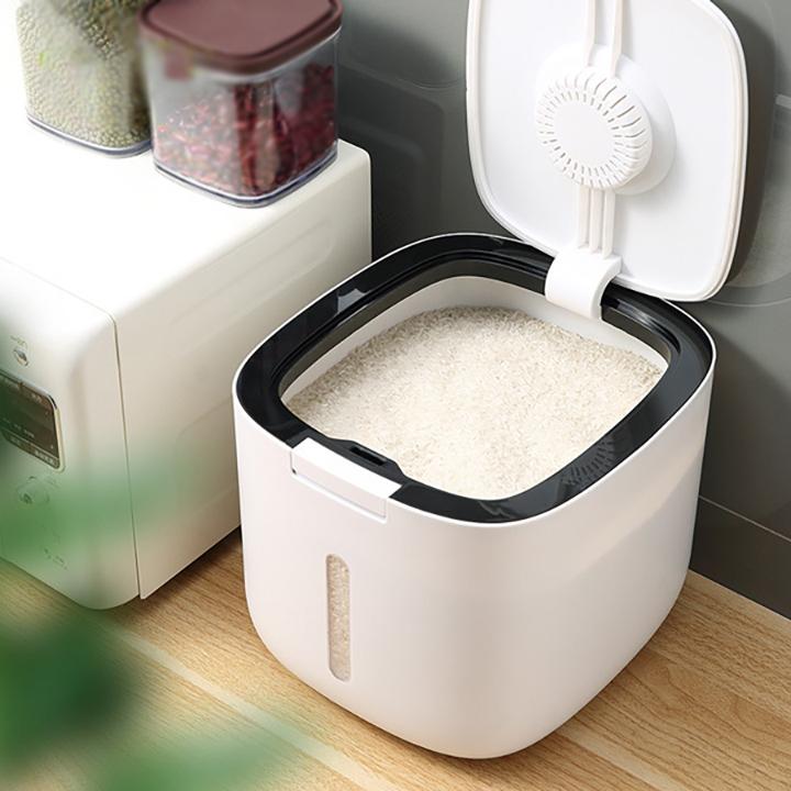 Thùng Đựng Gạo Cao Cấp 5 - 10kg - Thùng Gạo Thông Minh, Chống Nước, Chống Ẩm, Mối Mọt