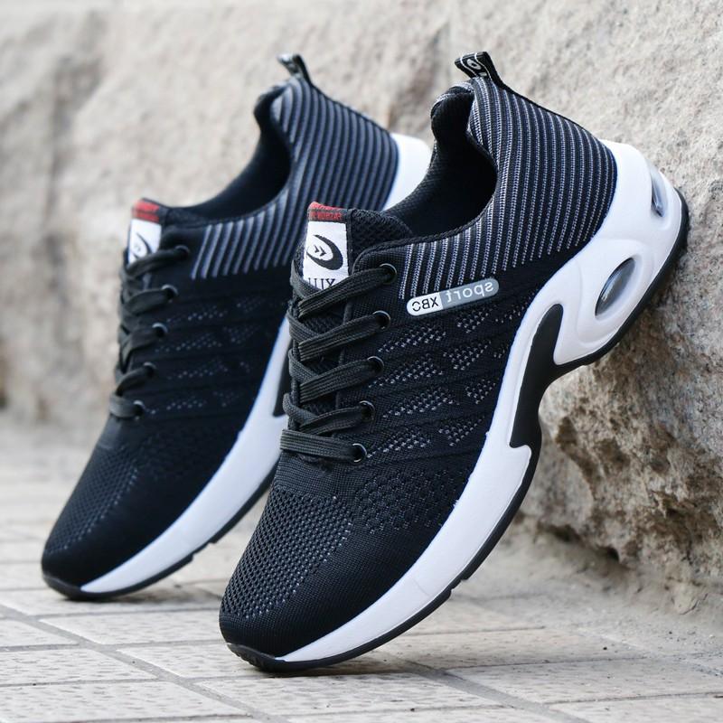 Giày thể thao buộc dây Giày sneakers thể thao nam  Giày thể thao vải thoáng khí   Màu đen Màu xanh G89 - Đen - 40